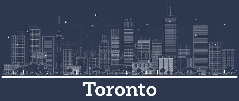 Konturu Toronto Kanada miasta linia horyzontu z Bia?ymi budynkami royalty ilustracja