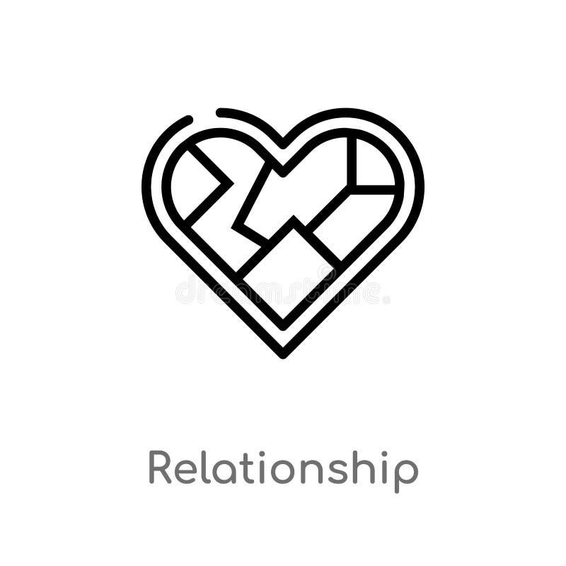 konturu związku wektoru ikona odosobniona czarna prosta kreskowego elementu ilustracja od przyjęcia urodzinowego i ślubu pojęcia ilustracja wektor