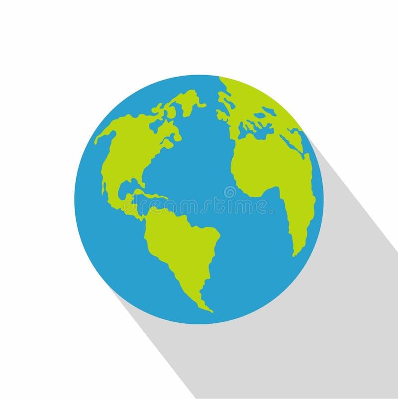 Kontynent na planety ikonie, mieszkanie styl ilustracja wektor