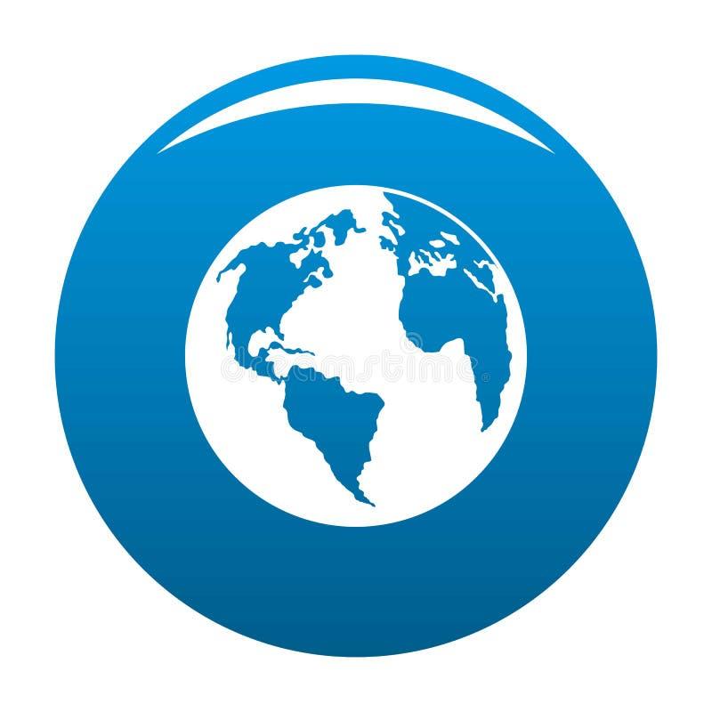 Kontynent na planety ikony błękicie royalty ilustracja