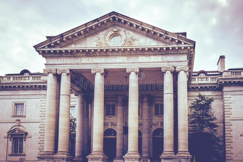 Kontynentalny sala budynku pomnik w washington dc usa obrazy stock