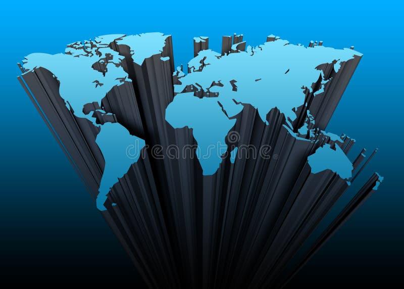 kontynenty 3 d royalty ilustracja