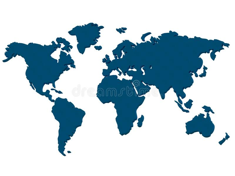 Kontynenty royalty ilustracja