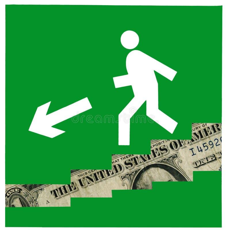 kontynuuje kryzys ekonomicznego royalty ilustracja