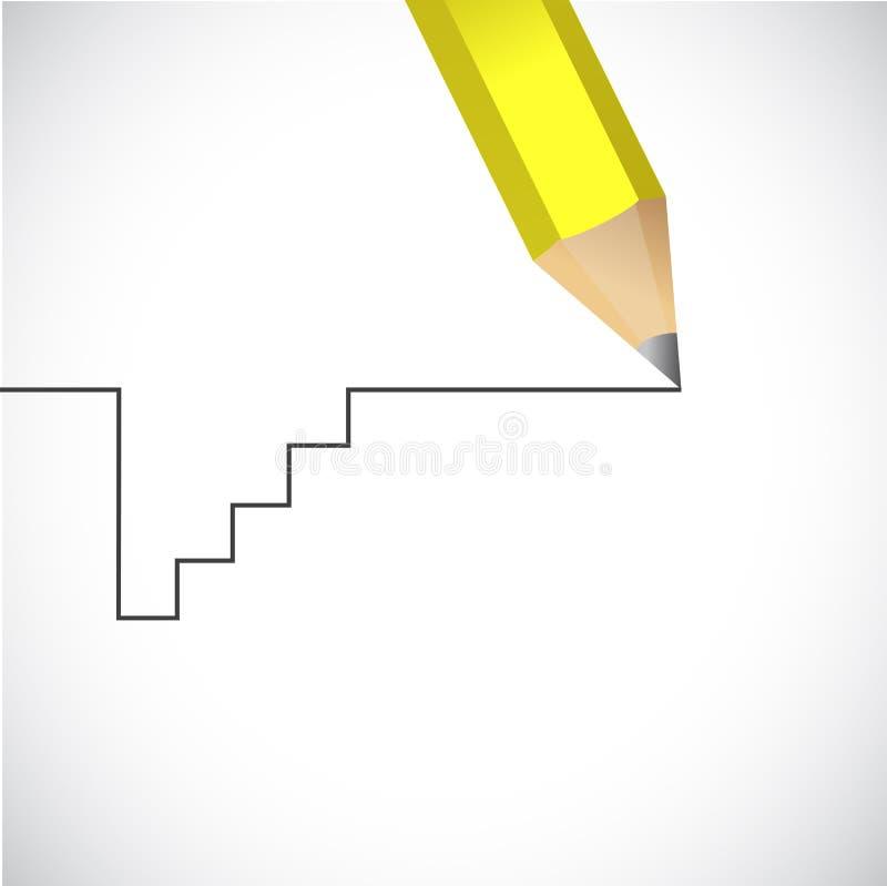 Kontynuuje twój sposób spadek wtedy odzyskuje Życie ścieżka royalty ilustracja