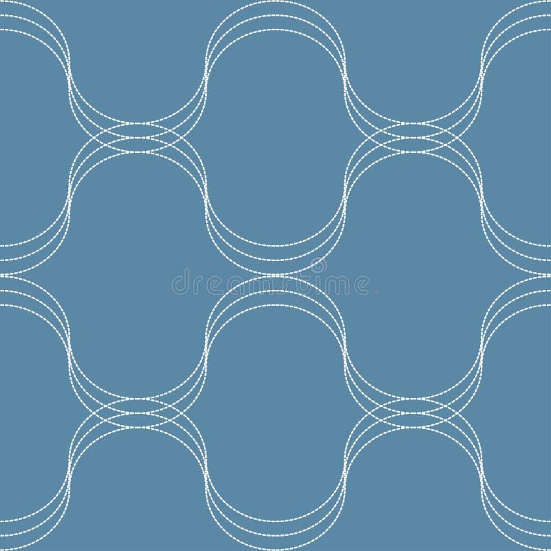 KONTYNUUJE wzór NA błękicie royalty ilustracja