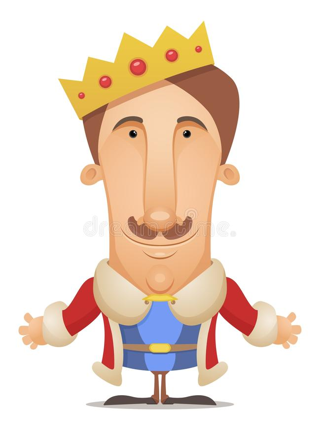 konung royaltyfri illustrationer