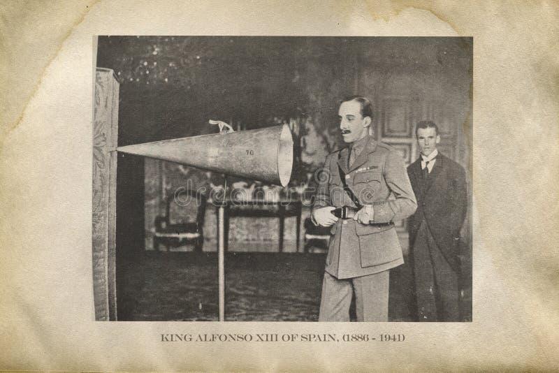 Konung Alfonso XIII av Spanien royaltyfri fotografi