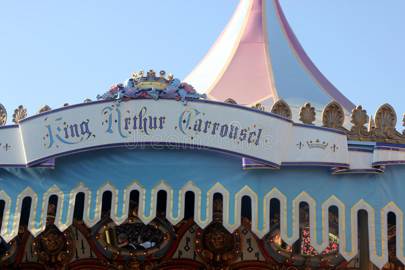 Konung Arthur Carrousel, Disneyland, Anaheim, Kalifornien royaltyfri fotografi