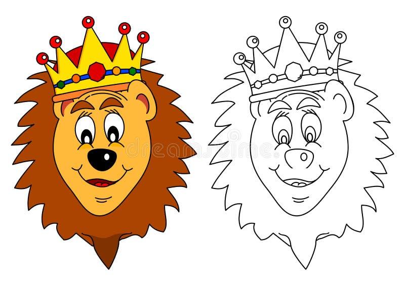Konung av fän - lejon stock illustrationer