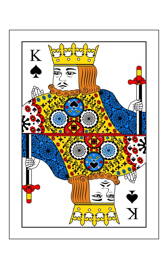 Konung av spadar royaltyfri illustrationer