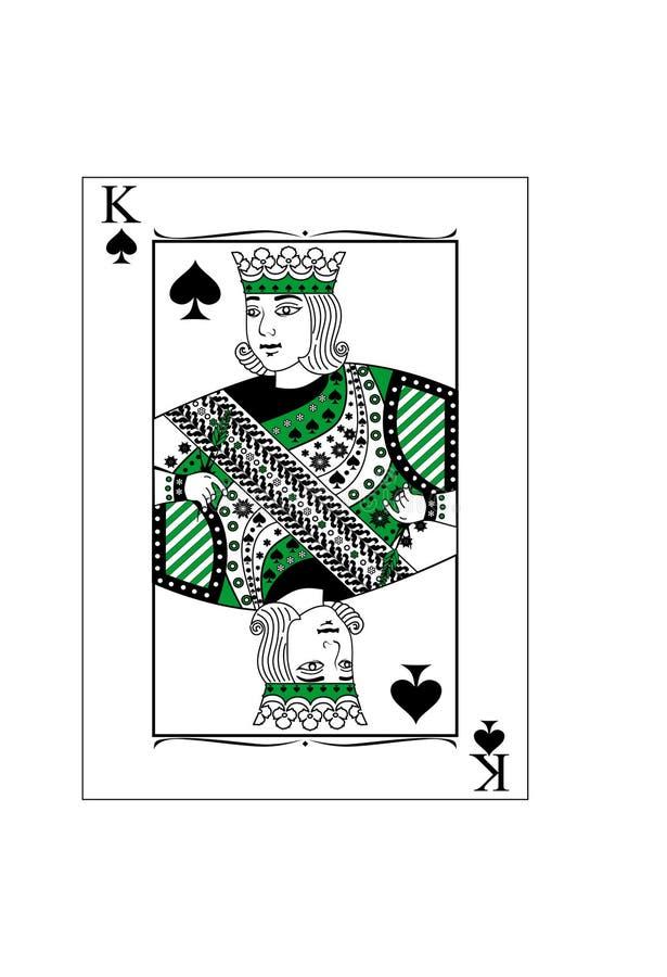 Konung av spadar stock illustrationer