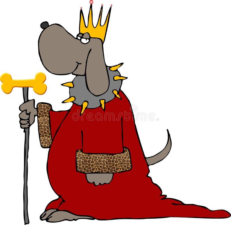 konung för hund iii royaltyfri illustrationer