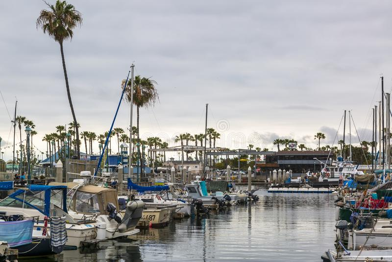 Konung Harbor, Redondo Beach, Kalifornien, Amerikas förenta stater, Nordamerika arkivfoto