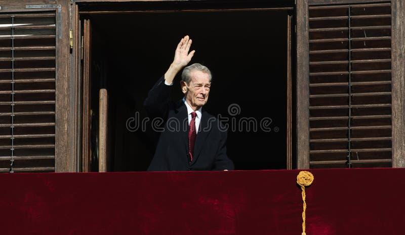 Konung Mihai I av Rumänien royaltyfria bilder