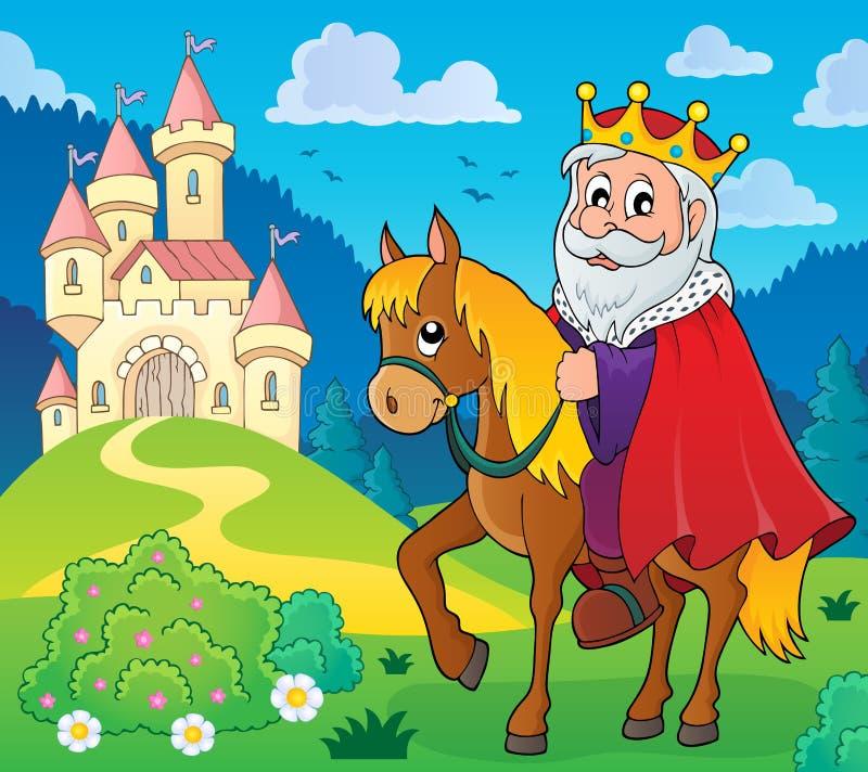 Konung på hästtemabild 5 royaltyfri illustrationer