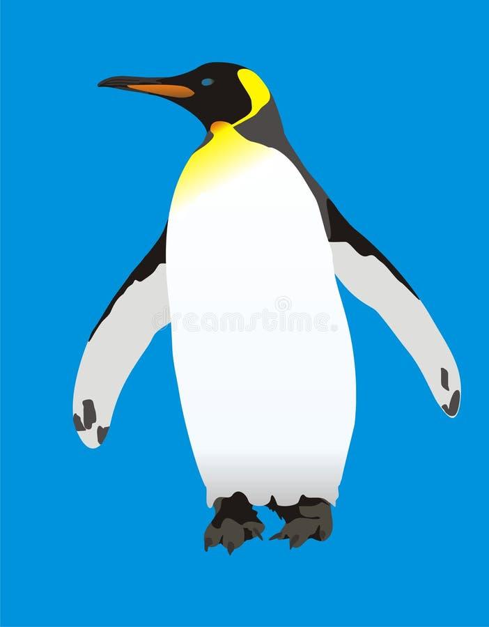 Konung Penguin stock illustrationer