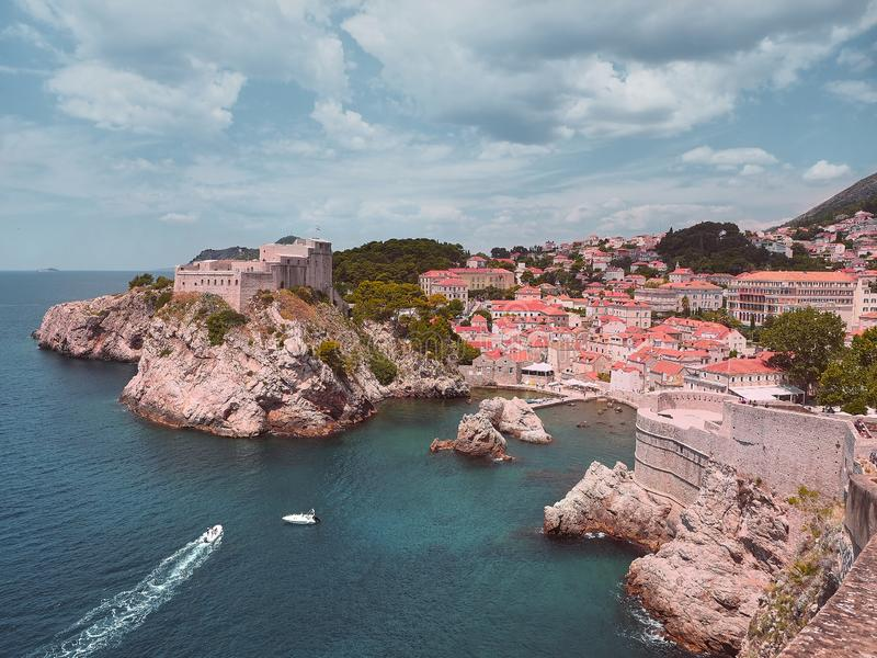 Konung` s landa Lovrijenac på Dubrovnik fotografering för bildbyråer