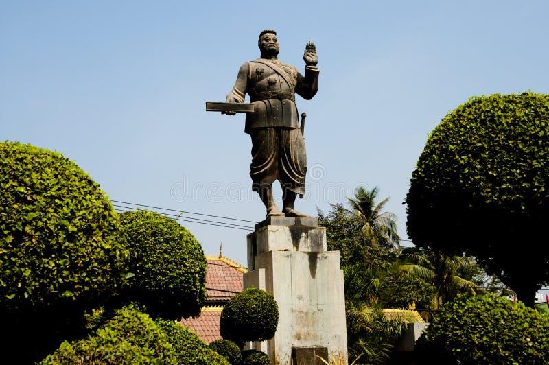 Download Konung Sisavang Vong Statue - Vientiane Fotografering för Bildbyråer - Bild av gammalt, historia: 106827527