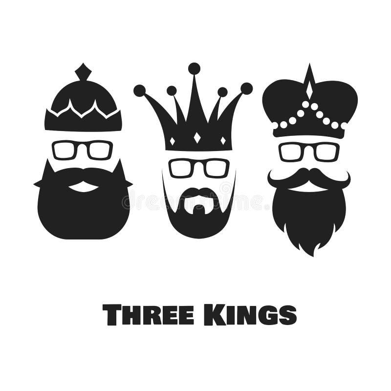 konungar tre stock illustrationer