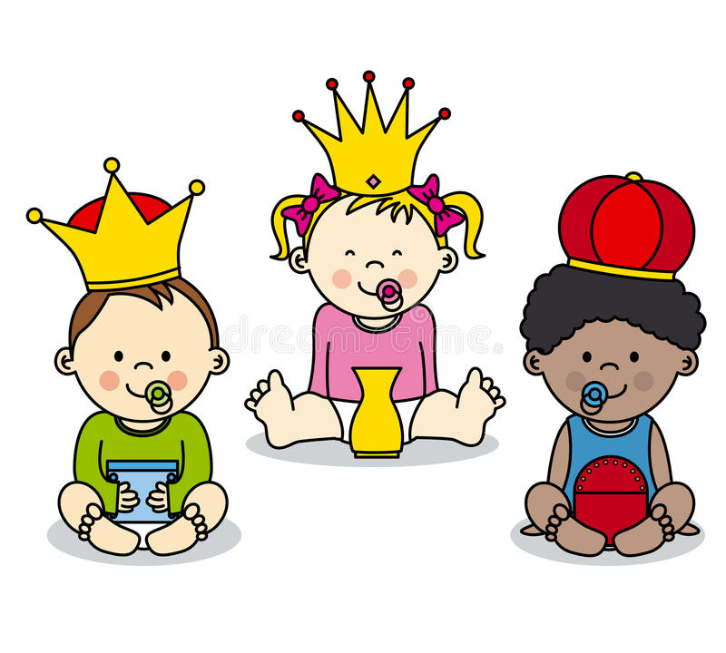 konungar tre royaltyfri illustrationer