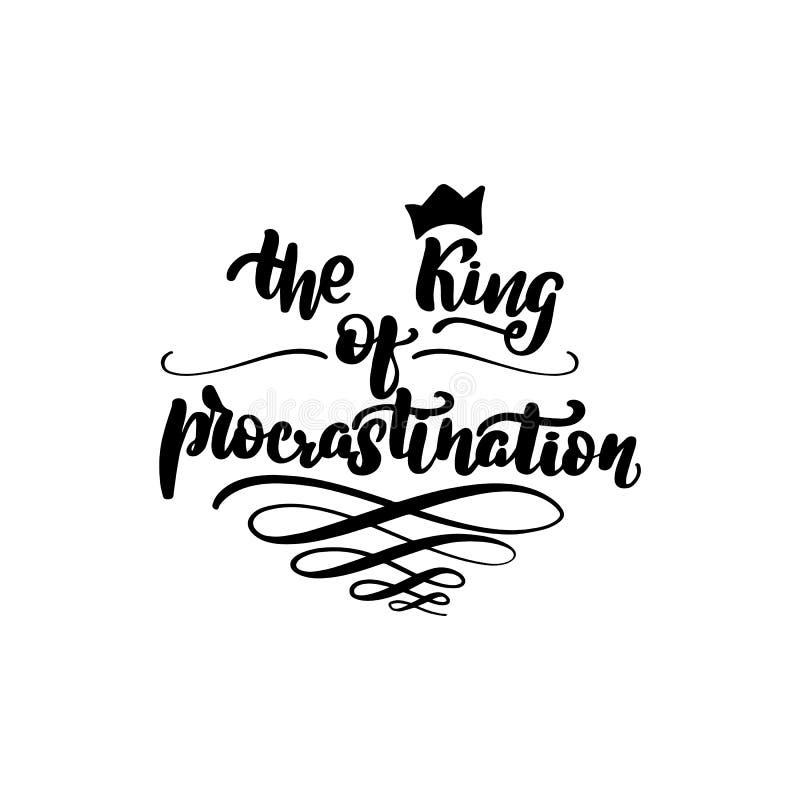 konungen av f?rhalning royaltyfri illustrationer