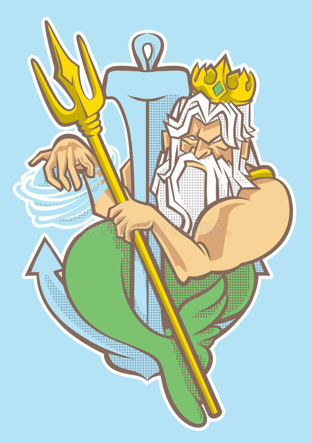 Konungen av sjöjungfrun royaltyfri foto