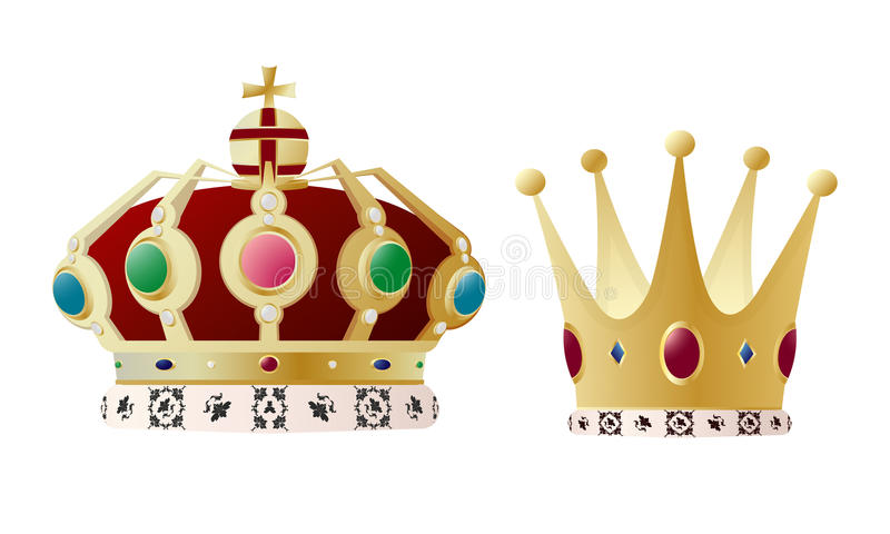 Konungen Och Drottningen Krönar Royaltyfri Foto