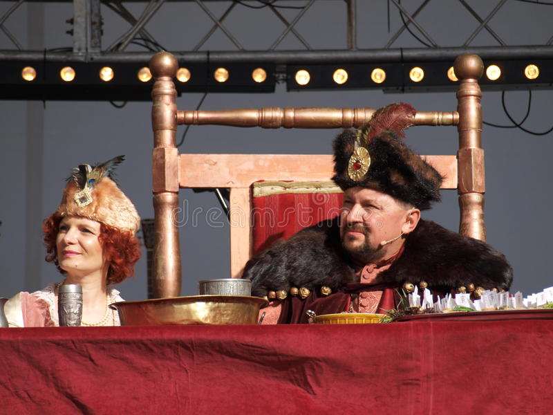 konunglublin poland drottning arkivbilder