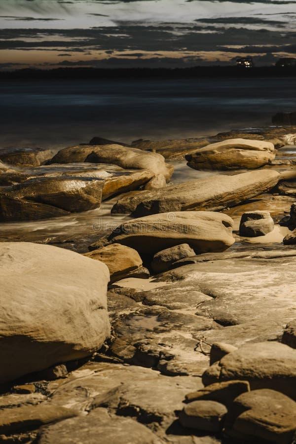 Konungstrand i solskenkusten, Queensland royaltyfri fotografi