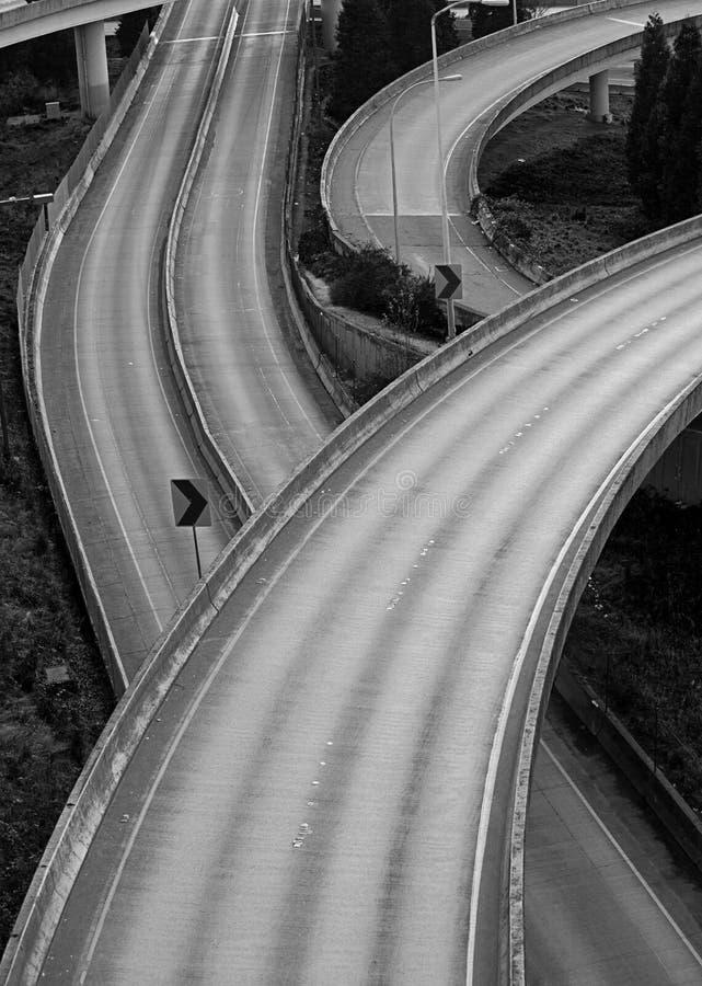 Konvergenz vieler Autobahnen stockfoto