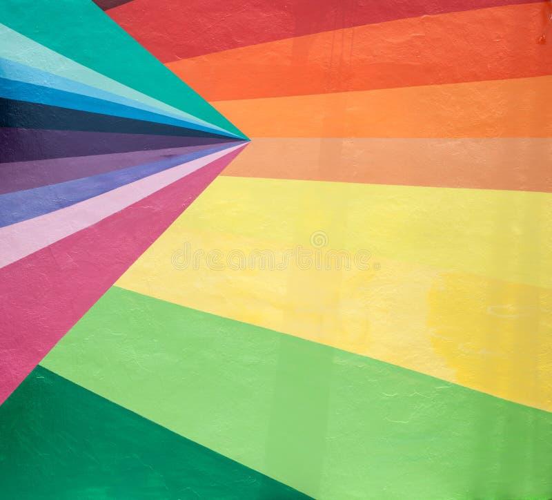 Konvergerande och färgade remsor. royaltyfria foton