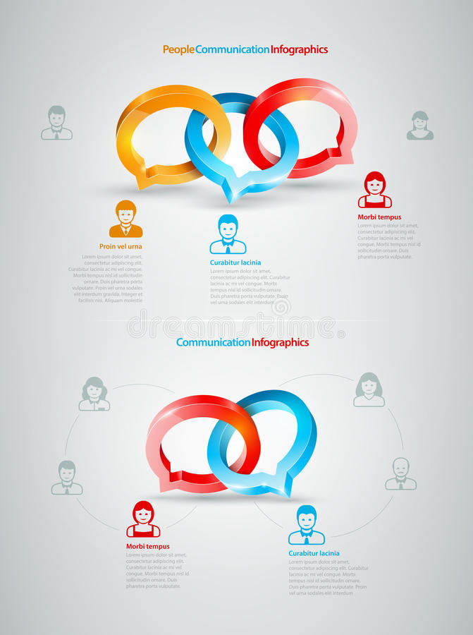 Konversation Infographics stock illustrationer