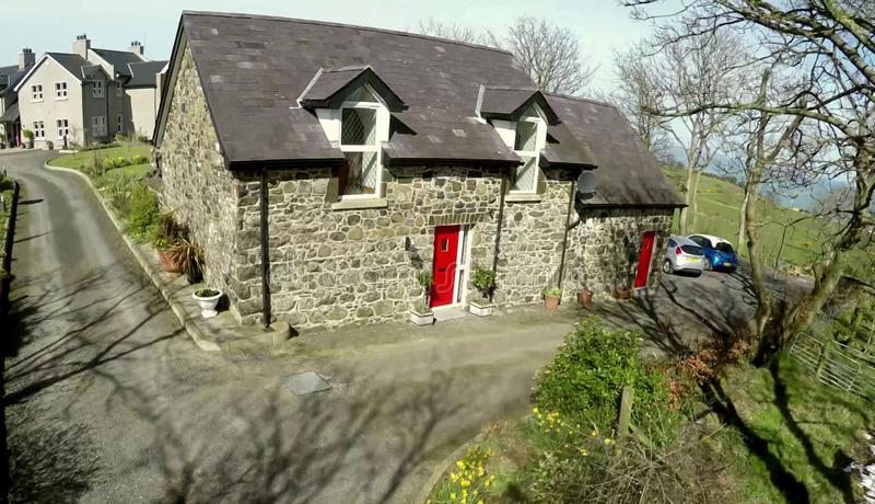 Konverterad ladugård Irland royaltyfri bild