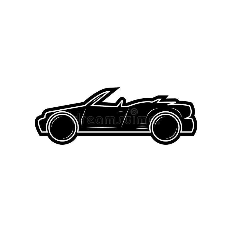 konvertierbare Autoikone Element von Autos f?r bewegliches Konzept und Netz Appsikone Glyph, flache Ikone f?r Websiteentwurf und  lizenzfreie abbildung