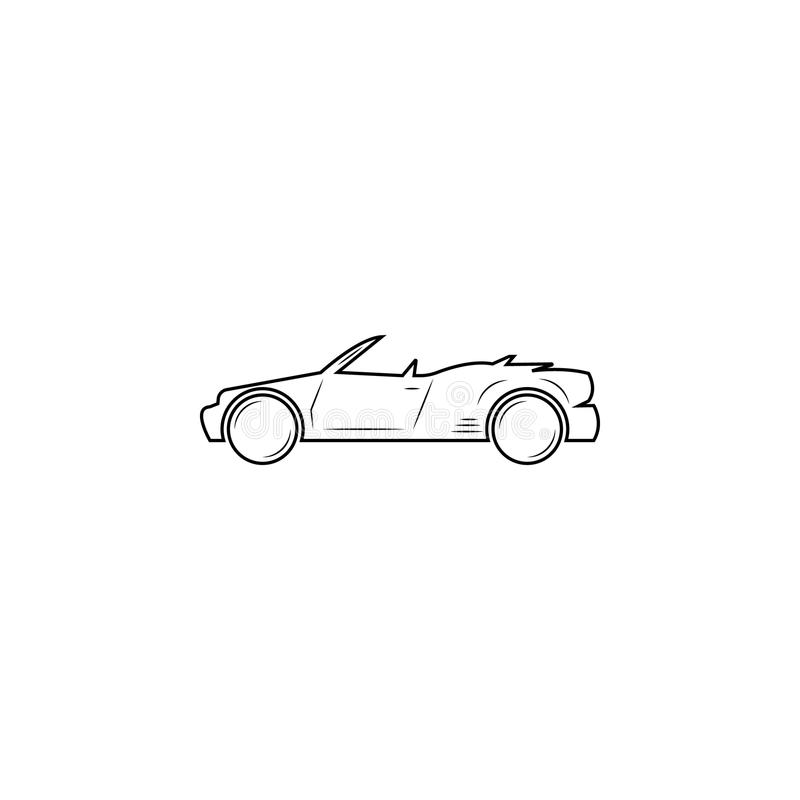 Konvertierbare Autolinie Ikone lizenzfreie abbildung