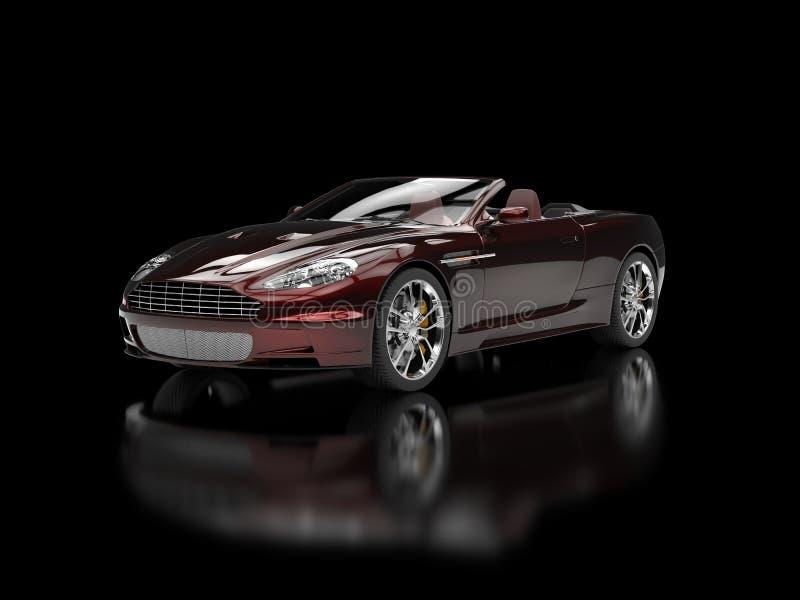 Konvertierbarer Sport Motor- dunkelrote Pearlescent Farbe lizenzfreies stockbild