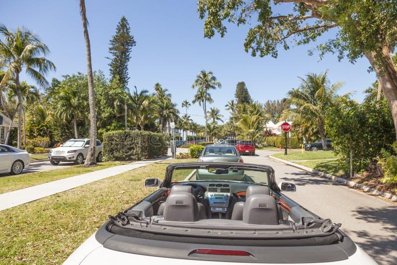 Konvertierbares Auto in Neapel, Florida lizenzfreie stockbilder