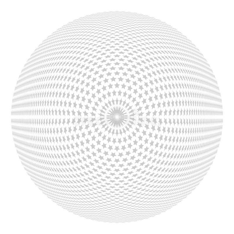 Konvex stjärnamodell Cirkeldesignbeståndsdel vektor illustrationer