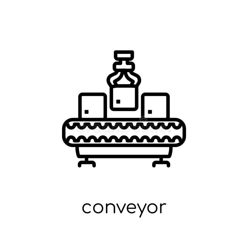 Konwejer ikona od dostawy i logistycznie kolekcji ilustracja wektor