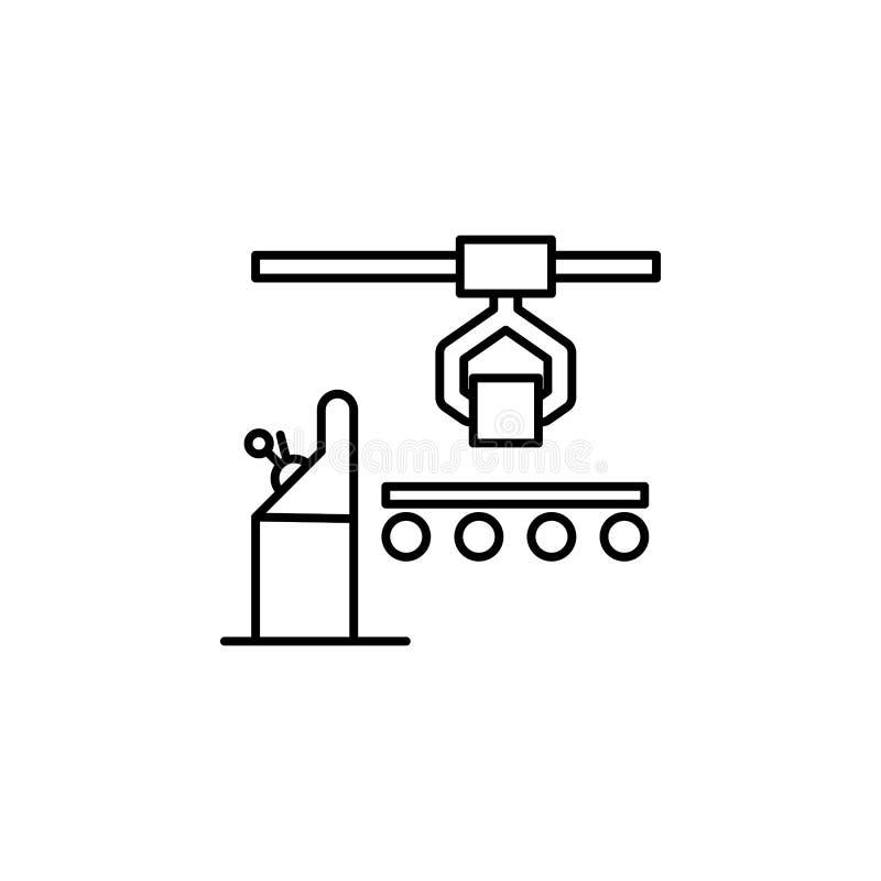 konwejer kreskowa ikona, produkcja, rękodzielniczy wektorowy piktogram ilustracja wektor
