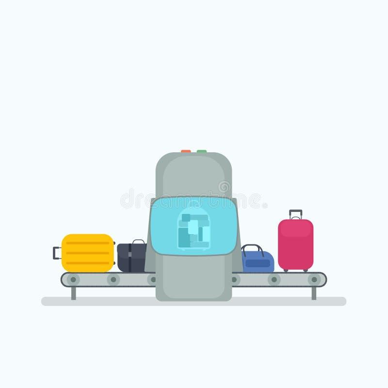 Konwejeru pasek w lotnisku ilustracji
