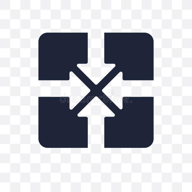konwergencji przejrzysta ikona konwergencja symbolu projekt od Wea royalty ilustracja