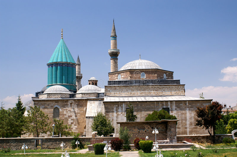 Konya Moschee stockbilder