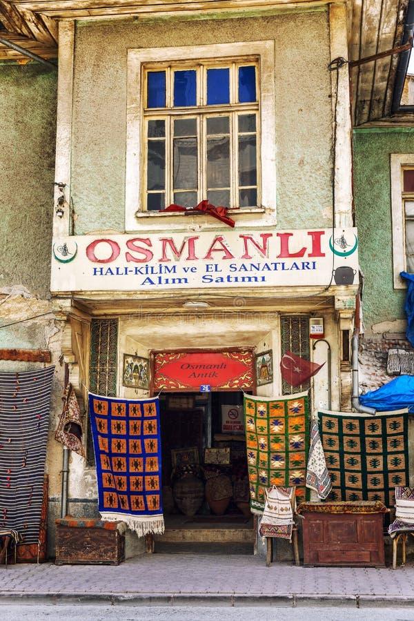 Konya, Turkey, 05/12/2019: Ottoman antique shop in the city center. stock photo