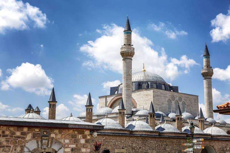 Konya, Turquie, 05/12/2019: Le musée de Mevlana pendant une journée ensoleillée image libre de droits