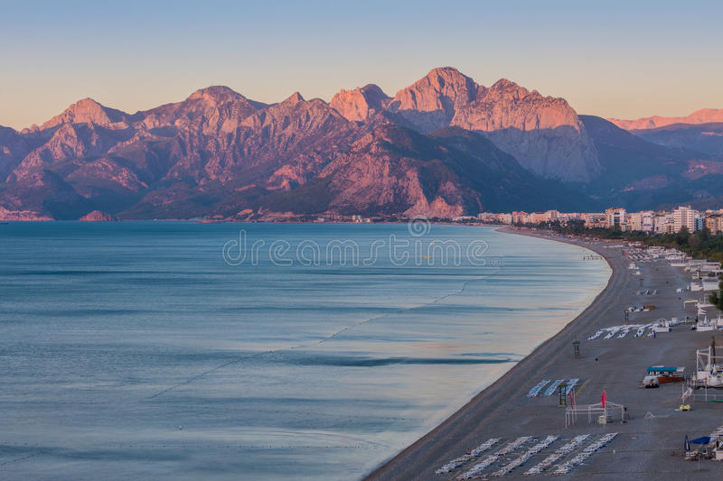 Download Konyaalti Beach stock photo. Image of mountain, antalya - 34950152