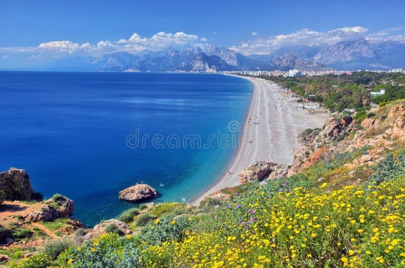 Konyaalti plaża, Antalya obraz stock