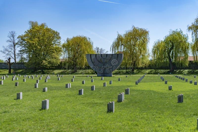 Konzentration Tabor TerezÃn Krematorium stockbild