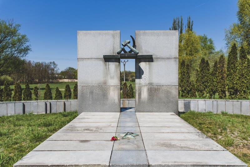 Konzentration Tabor TerezÃn Krematorium lizenzfreie stockfotos